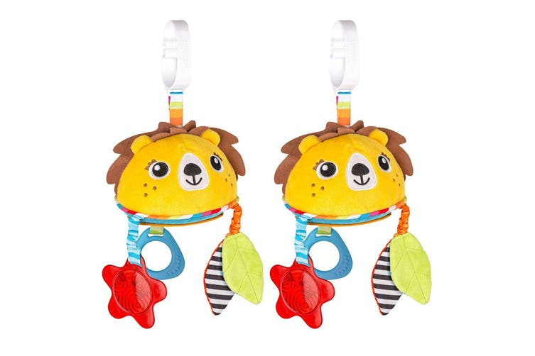 2PK Benbat Travel Mirror Lion Hanging Educational Stroller Baby/Infant 0m+ Toy