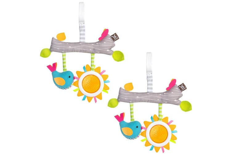 2PK Benbat Dazzle Fun & Sun Baby/Infant 0m+ Stroller Hanging Toys Activity Bar