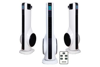 Heller 3 Speed 70cm Turbo Tower Fan w/Remote Control /Oscillation White