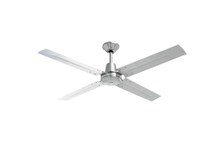 Heller Tyler 50W 1200mm Brushed Stainless Steel Ceiling Air Fan 4 Blade/3 Speed