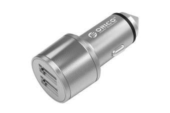 Orico Silver 15.5W Safety Hammer 2 USB Port Car Charger for iPhone/Samsung