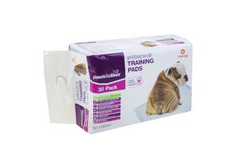 30PK Paws & Claws 60cm Dog Pet Toilet Training Pads Absorbent Eco Biodegradable