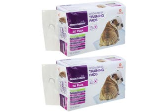 60PK Paws & Claws 60cm Dog Pet Toilet Training Pads Absorbent Eco Biodegradable