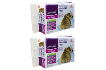 200PK Paws & Claws 60cm Dog Pet Toilet Eco Biodegradable Training Pads Absorbent