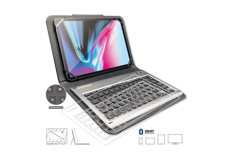 "Urban Unipad 8-11"" Universal Bluetooth Keyboard Smart Cover Protector for Tablet"