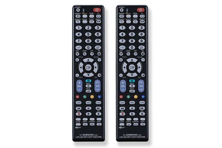 2PK Sansai Universal Television Remote Control for Samsung TV LCD/LED No Setup