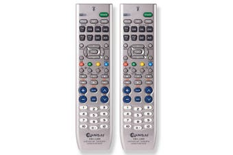 2PK Sansai 8 in 1 Universal Remote Controller w/ Learning/Memory Function TV/DVR
