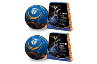 2PK Victury V1 Size 5 Shock Absorb Indoor Inflatable Soccer Ball Game Kids 5y+