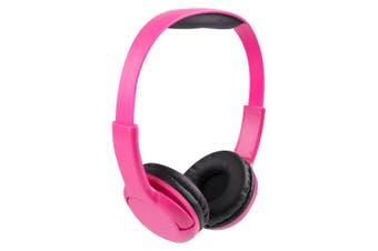 Vivitar Kids Tech Stereo Wired Headphones Children Safe 85dB Volume Limited Pink