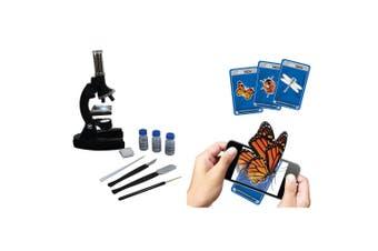Vivitar 900x Kids Tech Diecast Microscope Kit & Augmented Reality Cards Gadget