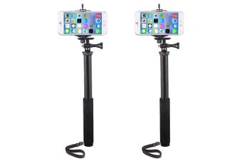 2x Vivitar 3-1 Action Selfie Pole Stick Camera/Phone/GoPro Mount/Cradle/Stand