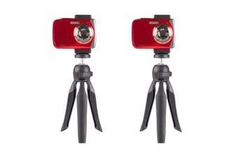 "2PK Vivitar 7.5"" Compact Camera Tripod Phone Selfie Mount/Stand/Hand Grip/Rotate"