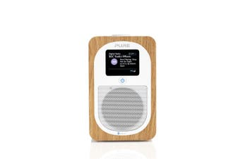 "Pure Evoke H3 3W 2.4"" Display DAB/DAB+/FM Digital Radio w/Bluetooth Speaker Oak"