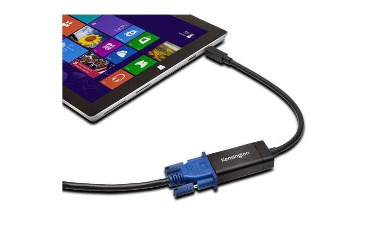 Kensington VM1000 Mini DisplayPort to VGA Full HD Video Adapter Cable for Laptop