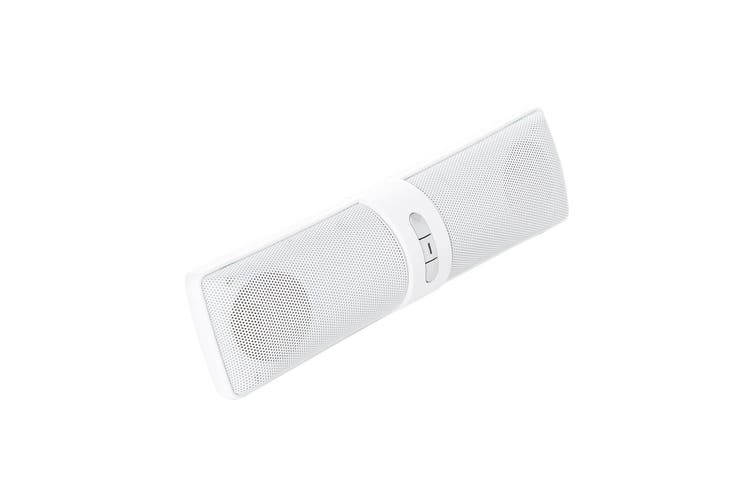 Vivitar Portable Stereo Bluetooth Wireless Speaker w/Rechargeable Battery White