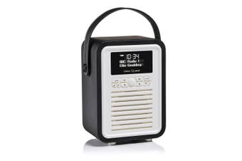 View Quest Black Retro Mini DAB Digital Radio/USB/AUX/Bluetooth Portable Speaker