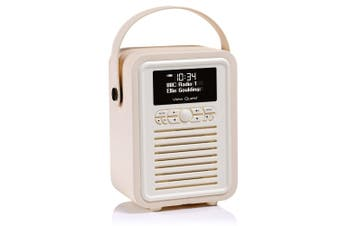 Cream Retro Mini DAB+ Radio/Bluetooth Portable Speaker for Android HTC Galaxy LG