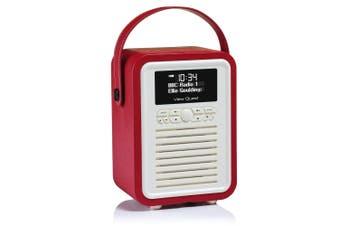VQ Portable Digital DAB+ Radio & Bluetooth Wireless Speaker Retro AUX USB Red
