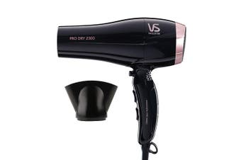 VS Sassoon VSD120A Pro Dry 2300W Hair Dryer/Hairdryer/Fast Drying/Light Weight