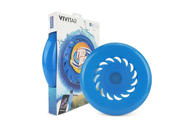 Vivitar Friz-Beats Waterproof Frizbee/Bluetooth Wireless Speaker - Outdoor Toy