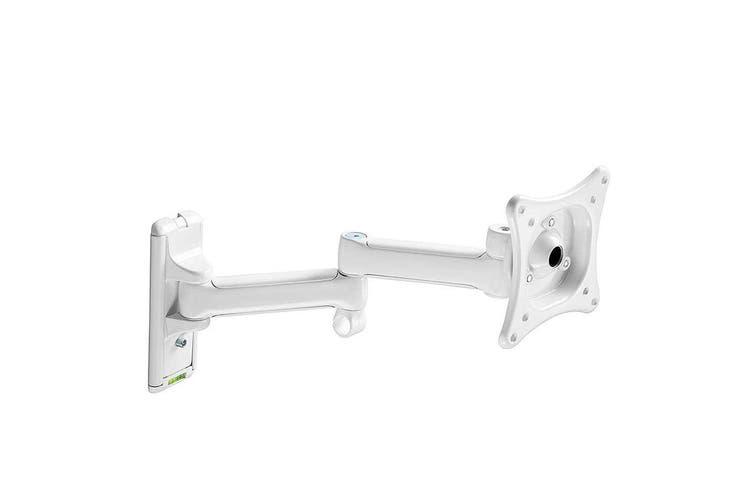 "Westinghouse Dual Arms 12""-20"" LED Tilt TV Wall Mount Bracket 100x100 Vesa White"