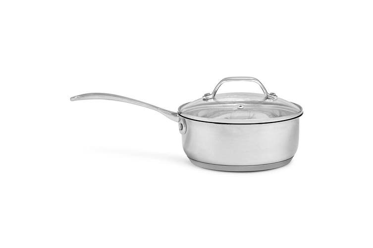 4pc Westinghouse Stainless Steel Induction Cookware Pot/Pan Set w/ Lids Silver