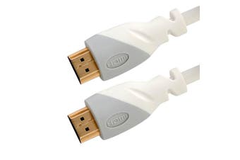 Westinghouse White 3m HDMI Cable 4K 3D Ultra HD Gold Plated for TV DVD Blu-ray