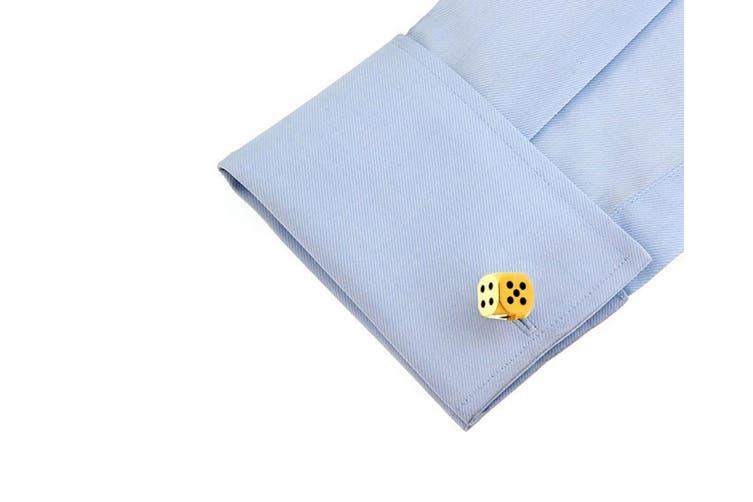 4pc SD Man Dice Men's Cloth/Shirt Wedding/Party Cufflinks Fashion Accessories GD