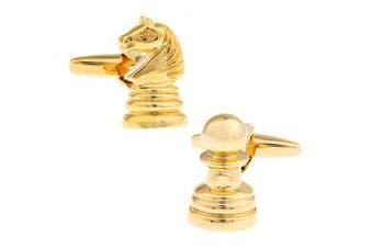 SD Man Chess Men's Cloth/Shirt Wedding/Party Cufflinks Fashion Accessories Gold
