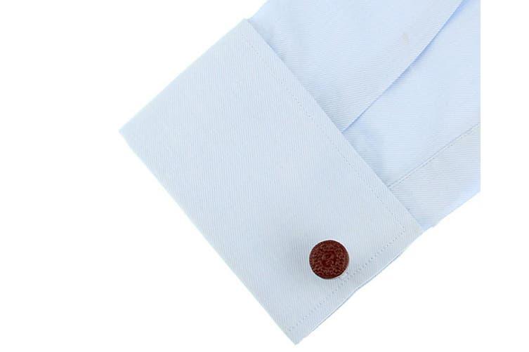 2pc SD Man Biscuit Men's Cloth Wedding/Party Cufflinks Shirt Accessories Brown