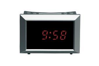 Avanti Compact Mirror Digital 12h Alarm Clock w/Snooze/Month/Day Calendar