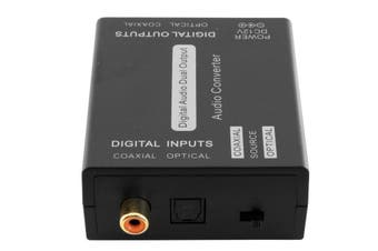 Digital Coaxial & Optical Toslink Dual Input/Output Audio Converter Adapter
