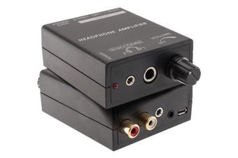 Hi-FI Headphones Earphones Power Amplifier Output 3.5mm 6.3mm Jack /RCA Input
