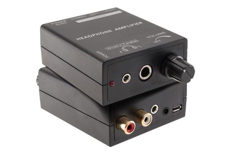 Hi-FI Headphones Earphones Power Amplifier Output 3.5mm 6.3mm Jack /RCA Input