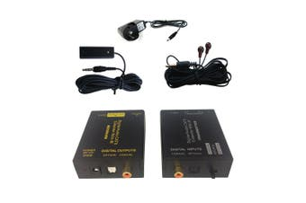 Digital Audio Optical Coax CAT5/CAT6 Extender Receiver/Transmitter IR Infrared
