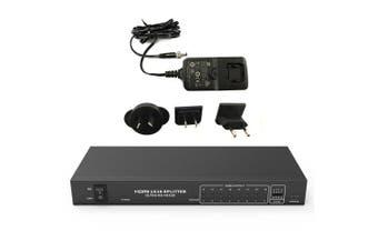 16 Way HDMI V2.0 Splitter 4K/2K 60HZ HDCP2.2 EDID AV Ultra HD 1x16 Distribution