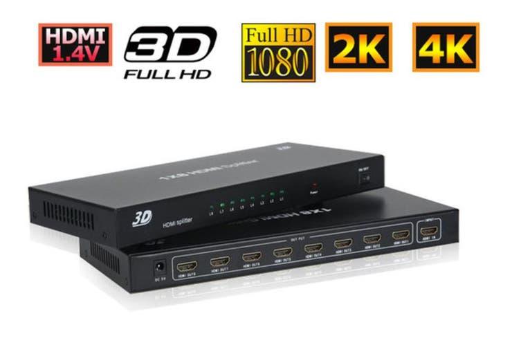 1 IN 8 OUT HDMI Splitter 1080P 4K Full HD Duplicator for TV AV Sender/FOXTEL Box
