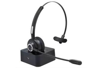 Xcessories 5.0 Bluetooth Wireless Headset Mic for MAC/PC Laptop/Smartphones BLK