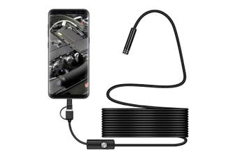 Waterproof 5m Borescope/Endoscope USB A/C/Micro Inspection Camera for Android/PC