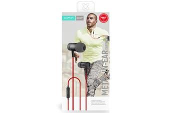 Xipin 3.5mm In-Ear Metal 1.2m Sports Earphones Headset  w/Microphone Black