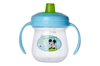 The First Years Soft Spout Trainer Drinking Sippy Cup Baby/Toddler 9m+ Mickey BL