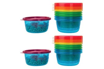 12PK The First Years Take & Toss Bowls Feeding Food Plastic Container Baby/Kids