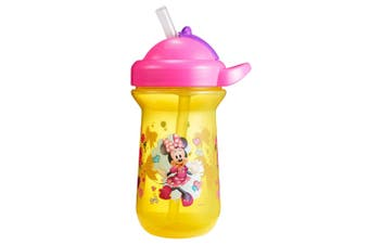 1pc The First Years Flip Top Straw Cup Baby/Toddler 18m+ Water Bottle Minnie YL