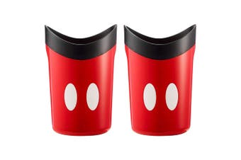 2x The First Years Disney Mickey Mouse Rinse/Shower/Bath Toy Cup for Infant/Baby