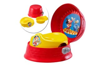The First Years Mickey Mouse 3-In-1 Kids Potty Training Toilet Seat/Stool/Chair