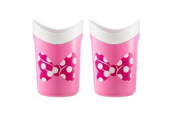 2x The First Years Disney Minnie Mouse Rinse/Shower/Bath Toy Cup for Infant/Baby
