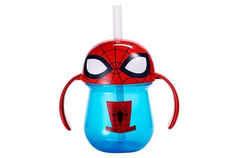 1pc The First Years Straw Trainer Drinking 207ml Cup Baby/Toddler 9m+ Spiderman