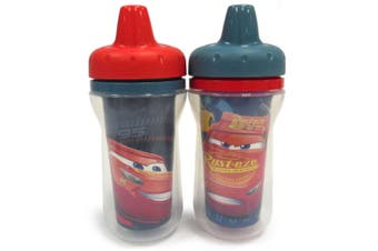 2PK The First Years Cars Insulated Sippy 266ml Cup Drinking/Water Baby/Toddler