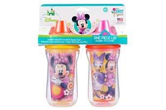2PK The First Years Minnie Mouse Insulated Sippy 266ml Drinking Cup Baby/Toddler
