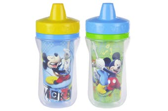 2PK The First Years Mickey Mouse Insulated Sippy 266ml Drinking Cup Baby/Toddler